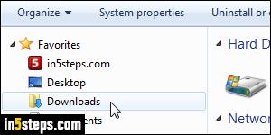 Change your download location (default folder) in Firefox