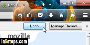 Change theme in Firefox (color and background image)