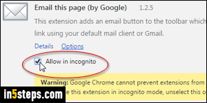 mode incognito chrome