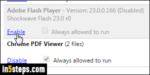 Enable Flash or other plugins