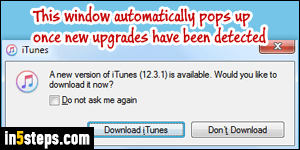Check for iTunes updates / get the latest version available