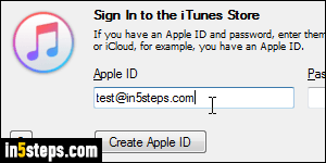 Login to iTunes, or sign in with a different Apple ID