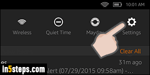 Disable auto brightness on your (Kindle) Fire tablet