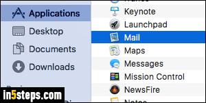 Mac os mail app edit default