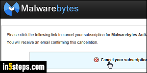 Prevent a Malwarebytes subscription from auto-renewing