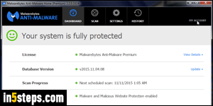 Uninstall Malwarebytes + register it on another computer