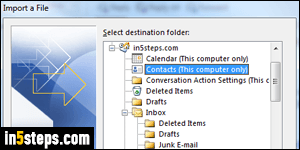 Import Gmail contacts to Outlook 2016 / 2013 / 2010