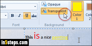 how to change text color in paint