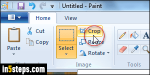 Change canvas size (drawing area) in MS Paint