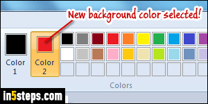 change color in ms paint foreground background fill. Black Bedroom Furniture Sets. Home Design Ideas