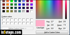 Change color in MS Paint (foreground / background fill)