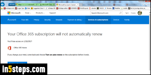 Cancel your Office 365 subscription (or reactivate it!)