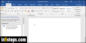 how to recover a document in word