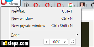 Change the default download location in Opera