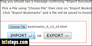 Import your Google Chrome bookmarks into Opera
