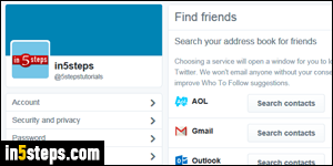 hide your email address or phone number on twitter