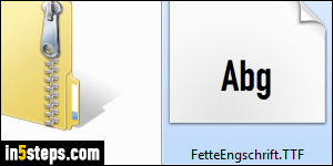 Add a font in Windows 7 / 8 / 10 (or re-install it)