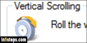 Change mouse wheel scroll speed in Windows 7