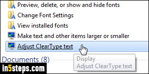 Disable ClearType text + font smoothing in Windows 7