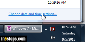 Prevent clock from auto syncing time in Windows 7 / 8