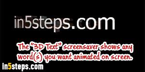 enable screensaver windows 7