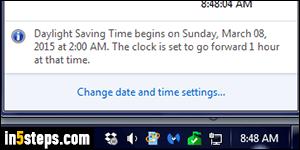 New daylight savings time updating windows 2007