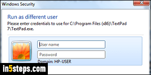 how to run program as administrator windows 7