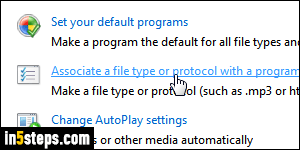 Set two different default web browsers in Windows 7