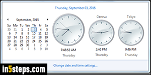 Show multiple clocks and time zones in Windows 7 / 8